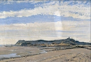 Fairlight-Hills-from-Winchelsea-Beach-East-Sussex-George-Graham-1881–1949