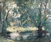 Harmony-Cattle-Watering-Pevensey-East-Sussex-Sidney-Dennant-Moss-1885–1946-Ali-10